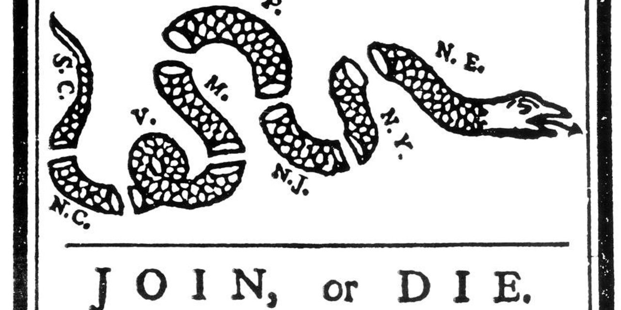 Join or Die (Benjamin Franklin)